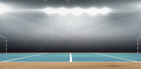 sports hall: Composite image of a handball field in a sports hall