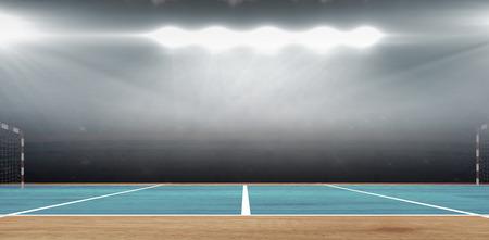 terrain de handball: Image composite d'un terrain de handball dans une salle de sport
