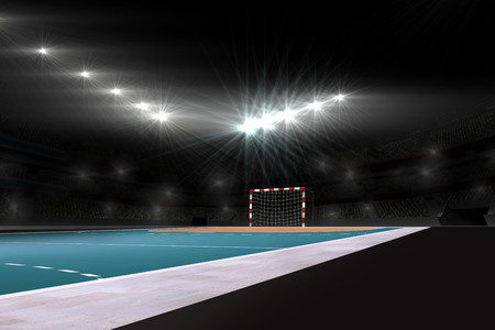 terrain de handball: Image de champ vide de handball