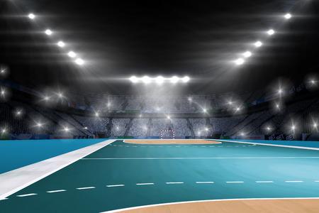 spectators: Image of handball field with spectators