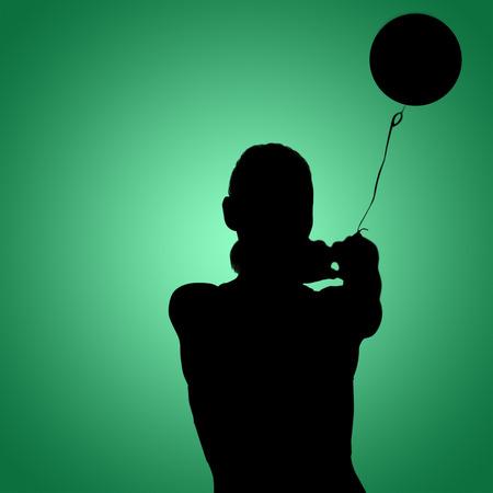 legging: Sportswoman throwing a hammer against green vignette