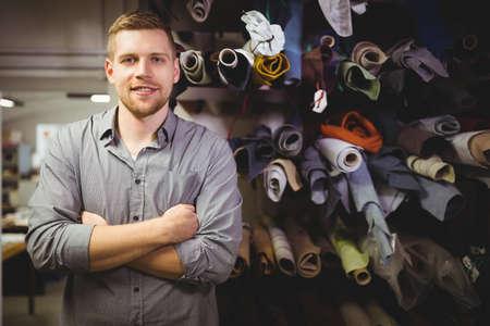 cobbler: Portrait of cobbler standing in workshop