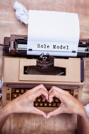 role  model: Role model message  against above view of typewriter and old phone