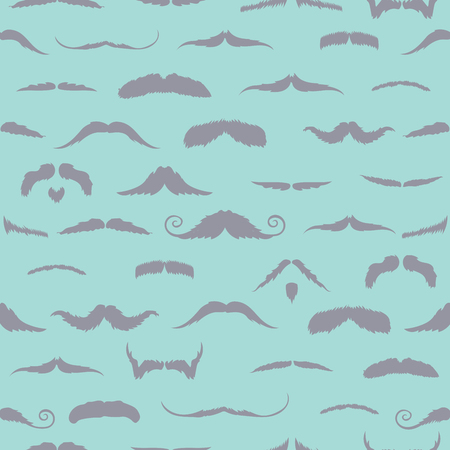 blue background: Mustaches against blue background
