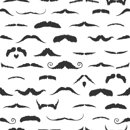 against white: Mustaches against white background