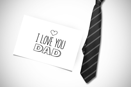 ie: fathers day greeting against white card