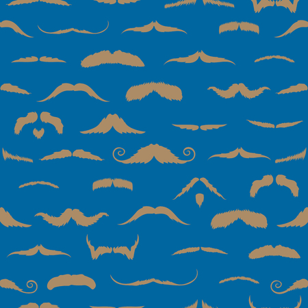 mustaches: Mustaches against blue background