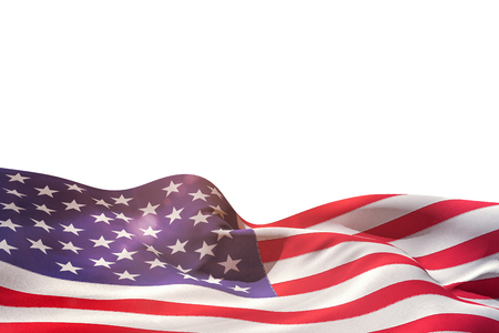 rippling: Digitally generated american flag rippling on white background Stock Photo
