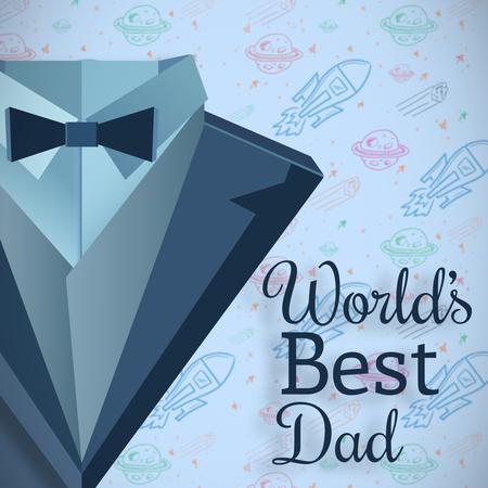 best dad: Worlds best dad message on blue background