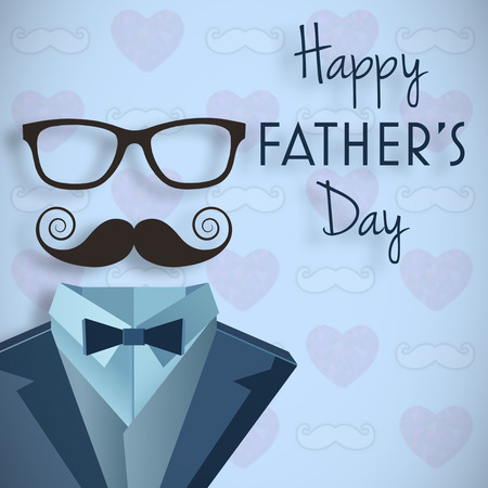 Happy fathers day message on blue background