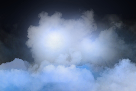 computer animation: Abstract cloudy sky with lights