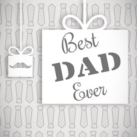 best dad: Best dad ever message on grey background