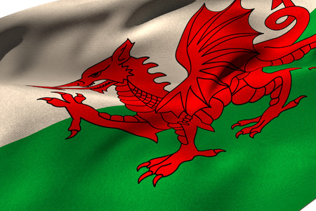 cropped shots: Cropped Wales flag against white background