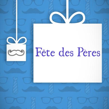fete: Fete de peres message on blue background