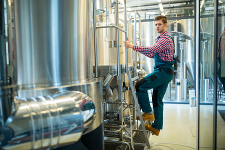 brewery: Portrait of confidence maintenance worker at brewery