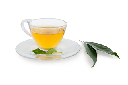 immovable: Close-up of herbal tea on white background