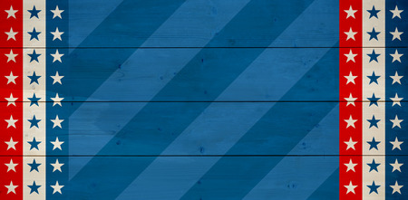 bleached: Line in a blue background against bleached wooden planks background