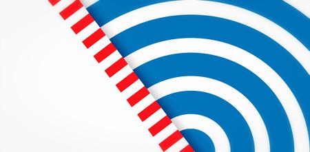 digitally: Focus on line  against digitally generated circles