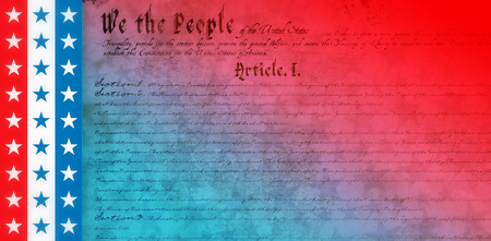 digitally: declaration of independence against digitally generated background