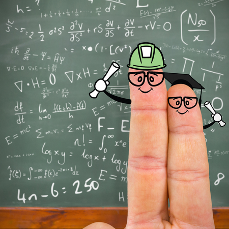 likeness: Cropped image of fingers against blackboard