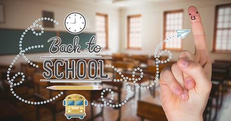 empty classroom: back to school against empty classroom Stock Photo