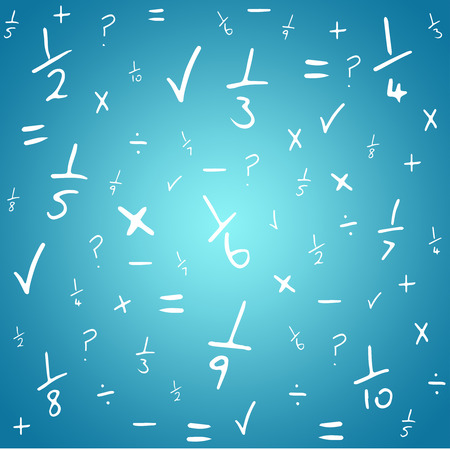 vignette: Maths against blue vignette background