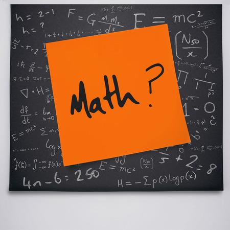 buzzword: Math buzzword against black chalkboard