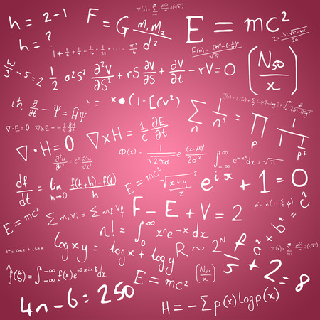 vignette: Maths against red vignette