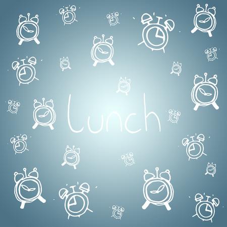 vignette: Lunch doodle against grey vignette