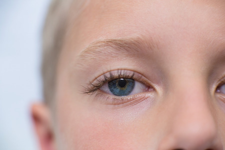 ophthalmology: Close-up of young patient eye in ophthalmology clinic