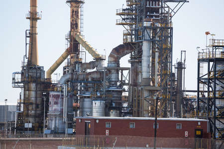 oil and gas industry: View of oil and gas industry on a sunny day