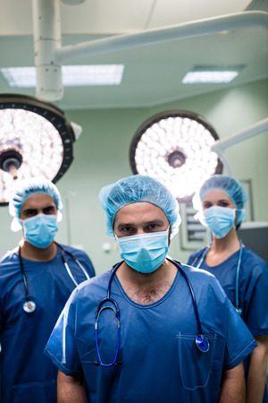 operation theatre: Portrait of surgeons standing in operation room at hospital