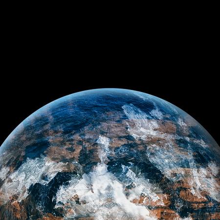 comunicacion oral: imagen de la tierra generada digitalmente en el fondo blanco Foto de archivo