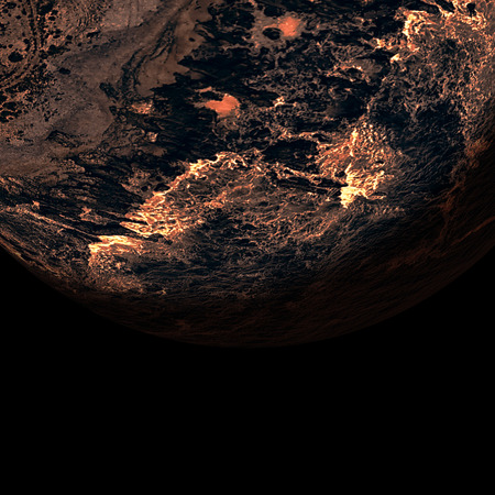 oral communication: Digitally generated image of earth over white background Stock Photo