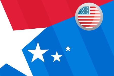 digital composite: Digital composite of American flag with badge