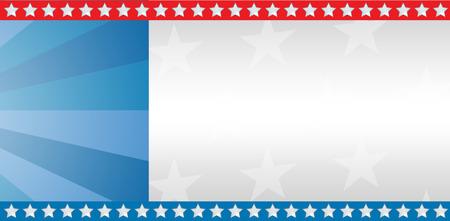 digital composite: Digital composite of American flag with sunburst Stock Photo