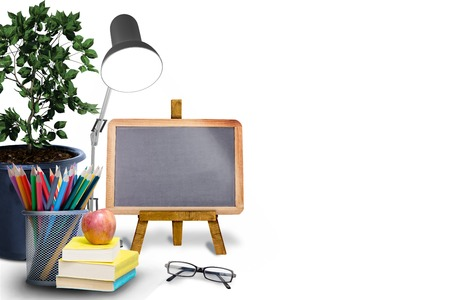 composite: Composite image of school objects Stock Photo