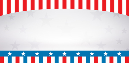 digitally generated image: Digitally generated image of stage against American flag