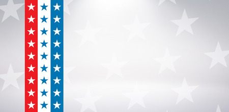 digitally generated image: Digitally generated image of American flag against starry background Stock Photo