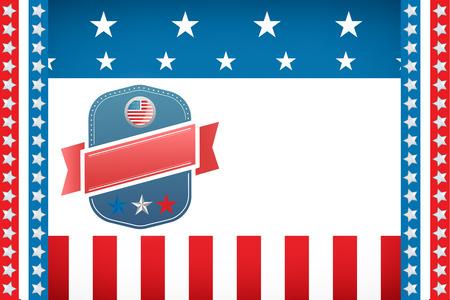 digitally generated image: Digitally generated image of badge on American flag