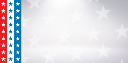 digital composite: Digital composite of American flag against starry background Stock Photo