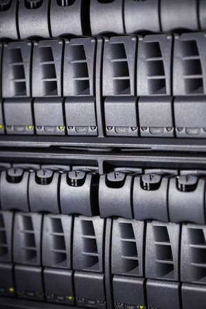 electricity company: Close-up of towers in server room LANG_EVOIMAGES
