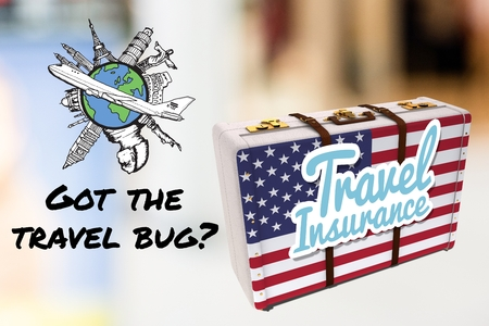 shopping questions: composite of travel insurance graphics
