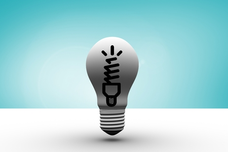 co lour: composite image of graphic light bulb