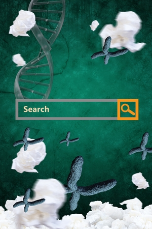 digital composite: Digital composite of Search bar against virus design