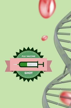 digital composite: Digital composite of Flu shot message with copy space