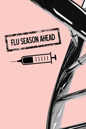 infectious disease: Digital composite of Fight the flu design
