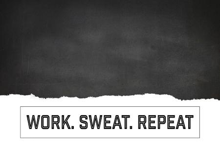 digital composite: Digital composite of Motivational fitness message