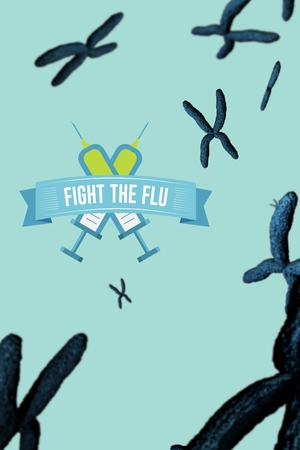 Digital composite of Fight the flu design