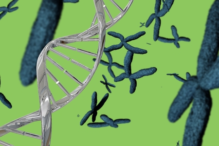 digital composite: Digital composite of Silver DNA graphic design